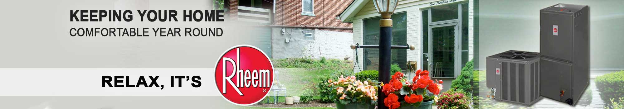We work on Rheem Hot Water Tank products in Clarion PA.