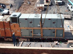 Impressive load of Trane Rooftop Units